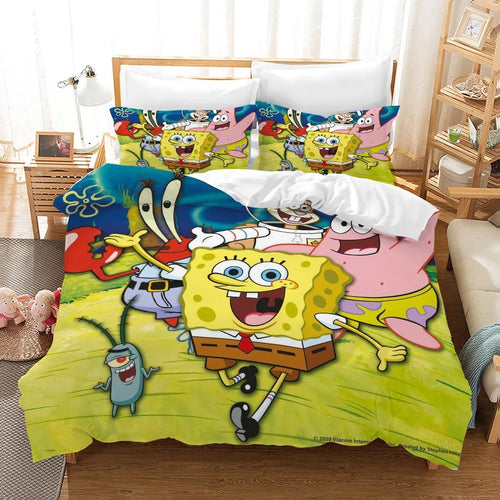 SpongeBob SquarePants #1 Duvet Cover Quilt Cover Pillowcase Bedding Set Bed Linen Home Decor