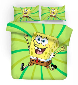 SpongeBob SquarePants #4 Duvet Cover Quilt Cover Pillowcase Bedding Set Bed Linen Home Decor