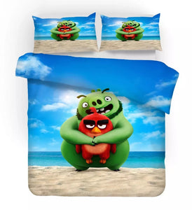 Angry Birds #6 Duvet Cover Quilt Cover Pillowcase Bedding Set Bed Linen Home Decor