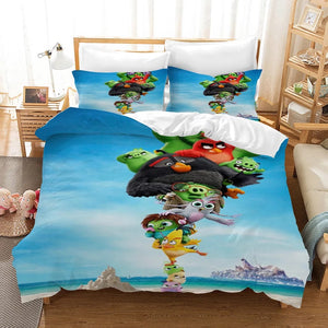 Angry Birds #7 Duvet Cover Quilt Cover Pillowcase Bedding Set Bed Linen Home Decor