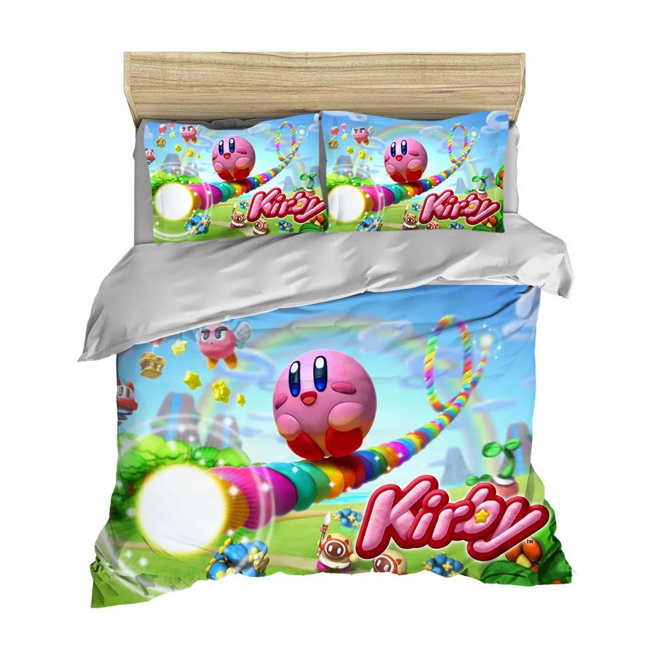 Kirby & The Amazing Mirror #4 Duvet Cover Quilt Cover Pillowcase Bedding Set Bed Linen Home Decor