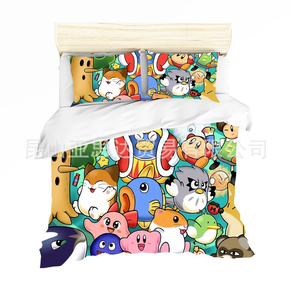 Kirby & The Amazing Mirror #7 Duvet Cover Quilt Cover Pillowcase Bedding Set Bed Linen Home Decor
