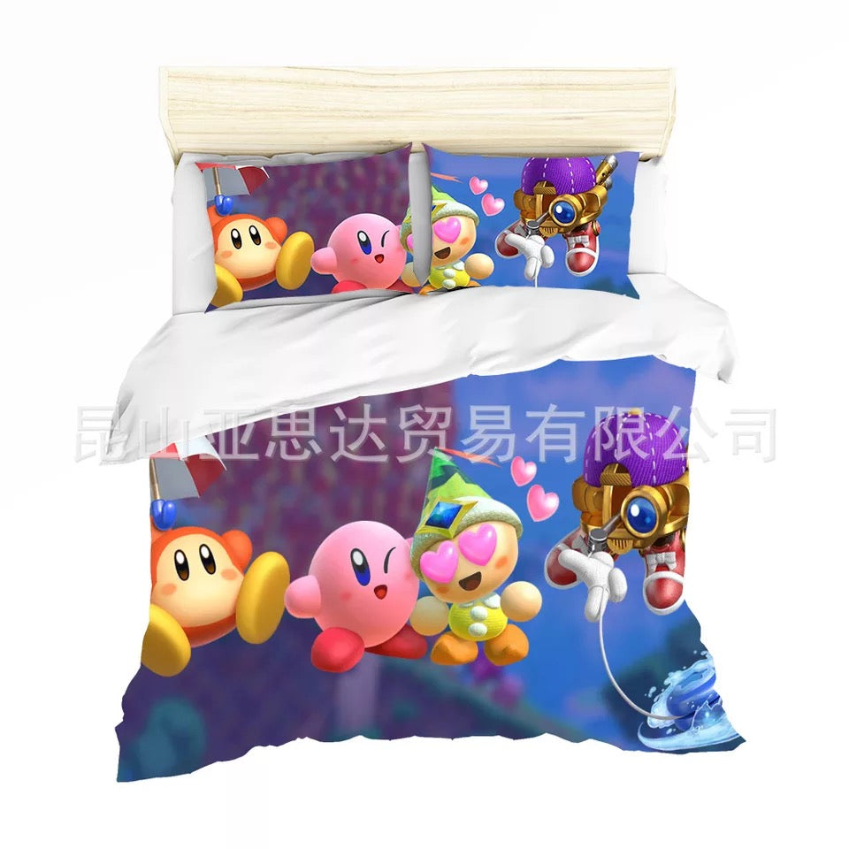 Kirby & The Amazing Mirror #8 Duvet Cover Quilt Cover Pillowcase Bedding Set Bed Linen Home Decor