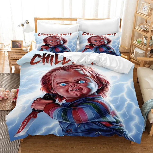 Child's Play Chucky Horror Movie #1 Duvet Cover Quilt Cover Pillowcase Bedding Set Bed Linen Home Decor