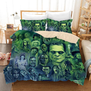 Halloween Michael Myers Horror Movie #4 Duvet Cover Quilt Cover Pillowcase Bedding Set Bed Linen Home Decor