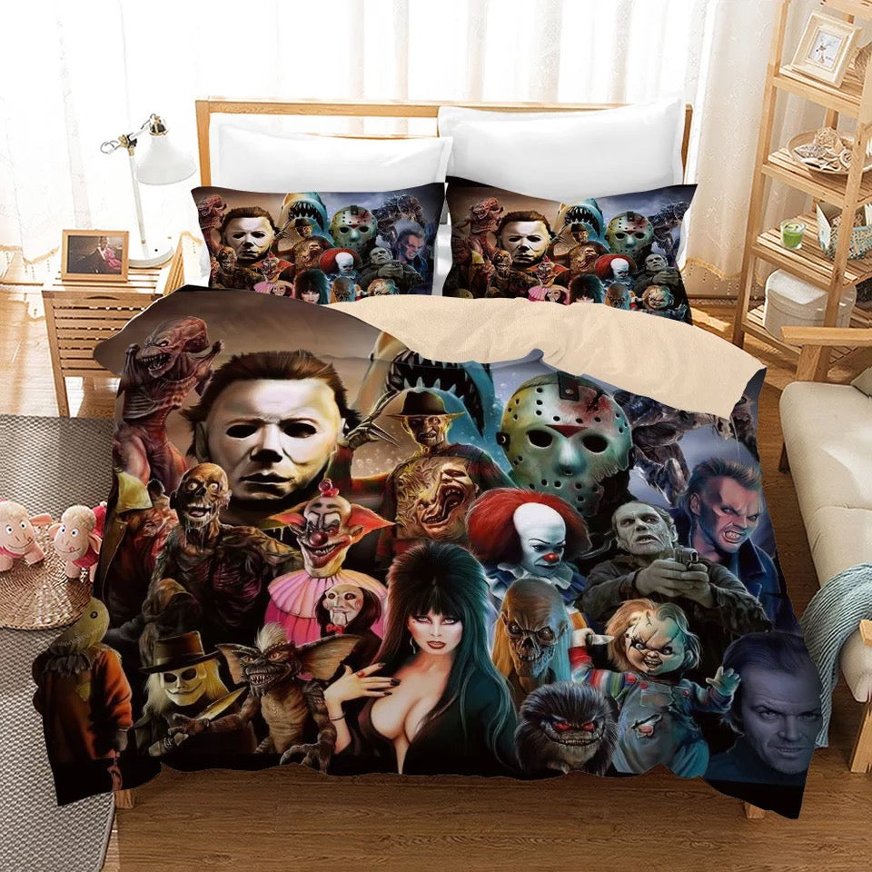 Halloween Michael Myers Horror Movie #5 Duvet Cover Quilt Cover Pillowcase Bedding Set Bed Linen Home Decor