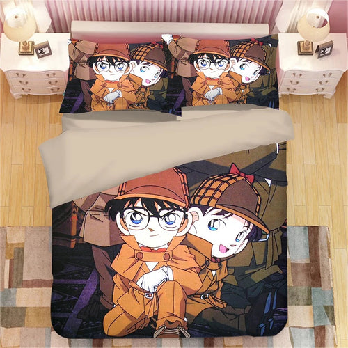 Detective Conan Case Closed Edogawa Kona #3 Duvet Cover Quilt Cover Pillowcase Bedding Set Bed Linen Home Decor