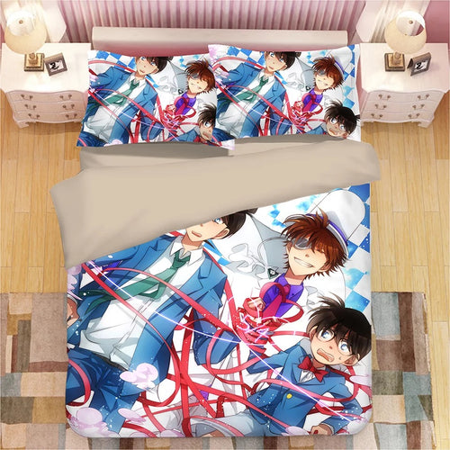 Detective Conan Case Closed Edogawa Kona #5 Duvet Cover Quilt Cover Pillowcase Bedding Set Bed Linen Home Decor