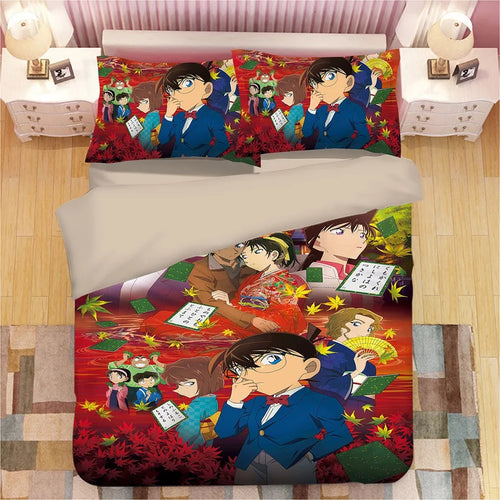 Detective Conan Case Closed Edogawa Kona #8 Duvet Cover Quilt Cover Pillowcase Bedding Set Bed Linen Home Decor