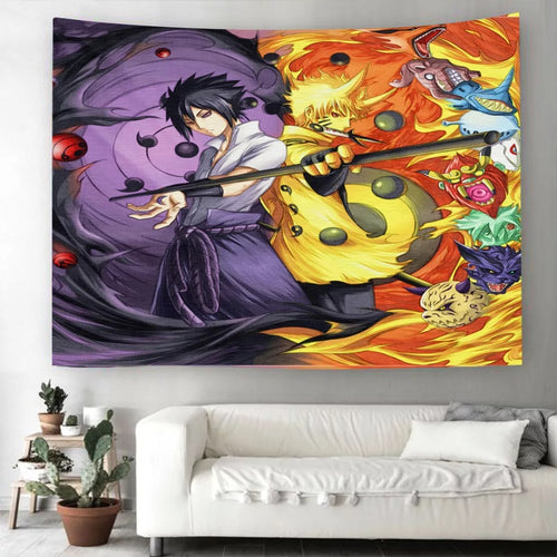 Anime Naruto Akatsuki #15 Wall Decor Hanging Tapestry Home Bedroom Living Room Decoration