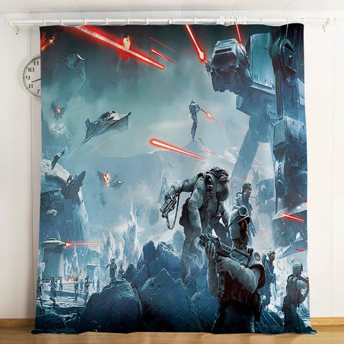Star Wars #7 Blackout Curtains For Window Treatment Set For Living Room Bedroom