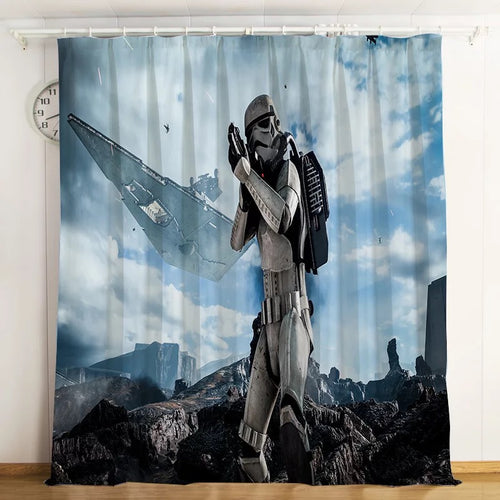Star Wars #8 Blackout Curtains For Window Treatment Set For Living Room Bedroom