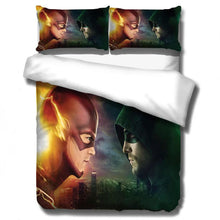 Load image into Gallery viewer, The Flash Barry Allen Arrow Oliver Queen #12 Duvet Cover Quilt Cover Pillowcase Bedding Set Bed Linen Home Decor