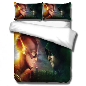 The Flash Barry Allen Arrow Oliver Queen #12 Duvet Cover Quilt Cover Pillowcase Bedding Set Bed Linen Home Decor