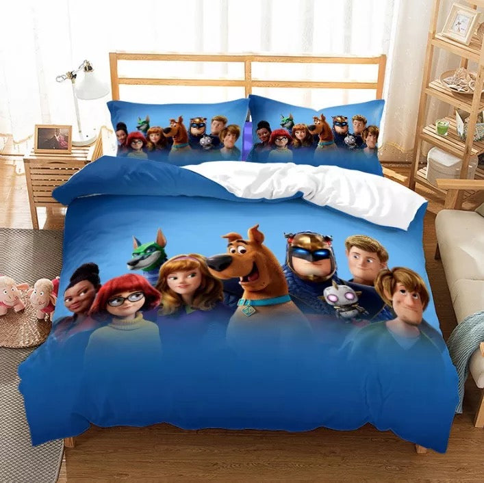 Scooby Doo #8 Duvet Cover Quilt Cover Pillowcase Bedding Set Bed Linen Home Bedroom Decor