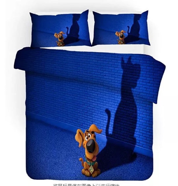 Scooby Doo #9 Duvet Cover Quilt Cover Pillowcase Bedding Set Bed Linen Home Bedroom Decor