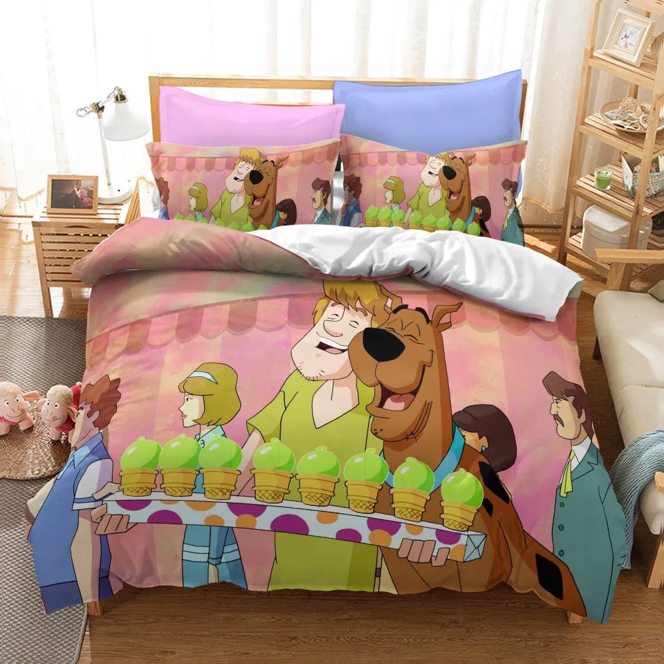 Scooby Doo #10 Duvet Cover Quilt Cover Pillowcase Bedding Set Bed Linen Home Bedroom Decor