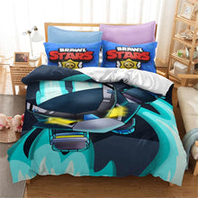 Load image into Gallery viewer, Brawl Stars Crow #2 Duvet Cover Quilt Cover Pillowcase Bedding Set Bed Linen Home Bedroom Decor