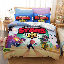 Load image into Gallery viewer, Brawl Stars #3 Duvet Cover Quilt Cover Pillowcase Bedding Set Bed Linen Home Bedroom Decor
