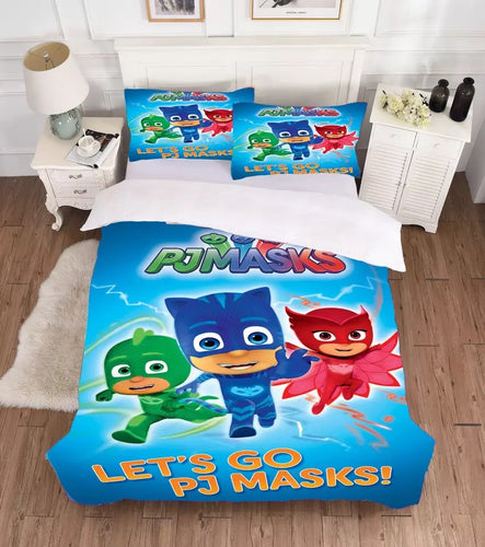 PJmasks #1 Duvet Cover Quilt Cover Pillowcase Bedding Set Bed Linen Home Decor