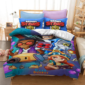 Brawl Stars #5 Duvet Cover Quilt Cover Pillowcase Bedding Set Bed Linen Home Bedroom Decor