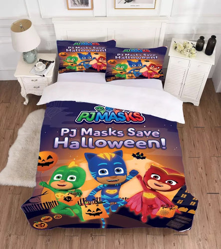 PJmasks #2 Duvet Cover Quilt Cover Pillowcase Bedding Set Bed Linen Home Decor