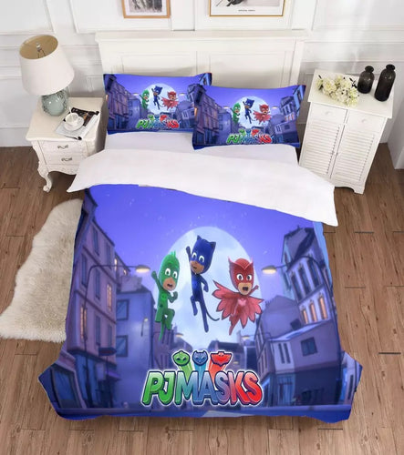 PJmasks #3 Duvet Cover Quilt Cover Pillowcase Bedding Set Bed Linen Home Decor