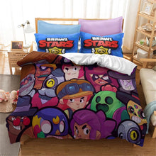 Load image into Gallery viewer, Brawl Stars #7 Duvet Cover Quilt Cover Pillowcase Bedding Set Bed Linen Home Bedroom Decor