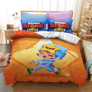 Brawl Stars #8 Duvet Cover Quilt Cover Pillowcase Bedding Set Bed Linen Home Bedroom Decor