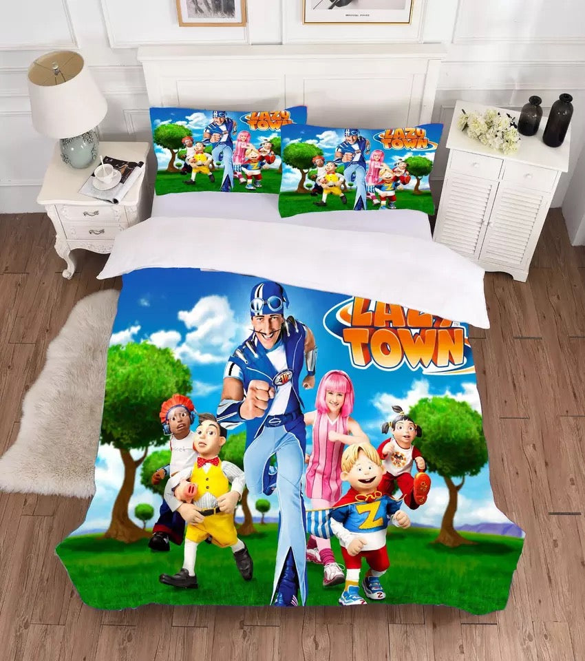 PJmasks #4 Duvet Cover Quilt Cover Pillowcase Bedding Set Bed Linen Home Decor