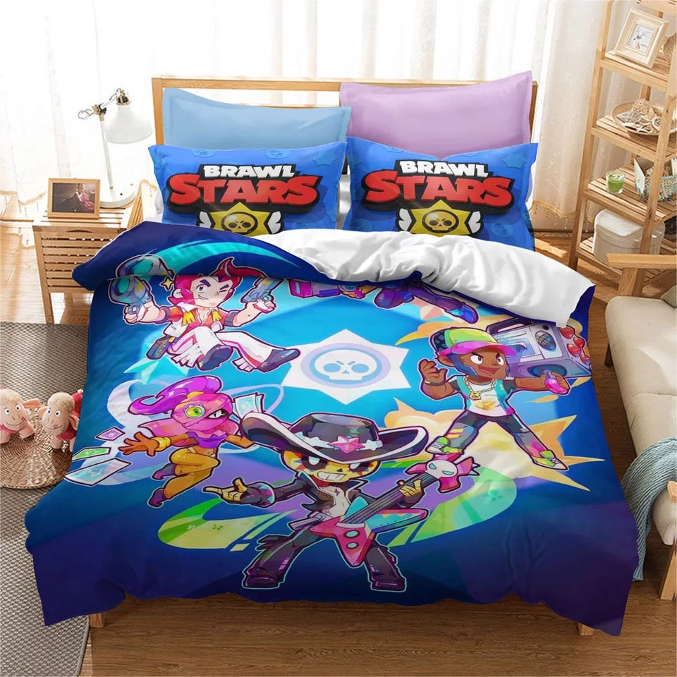 Brawl Stars #10 Duvet Cover Quilt Cover Pillowcase Bedding Set Bed Linen Home Bedroom Decor