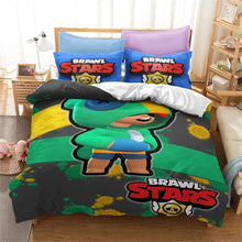 Load image into Gallery viewer, Brawl Stars #12 Duvet Cover Quilt Cover Pillowcase Bedding Set Bed Linen Home Bedroom Decor
