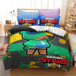 Brawl Stars #12 Duvet Cover Quilt Cover Pillowcase Bedding Set Bed Linen Home Bedroom Decor