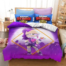 Load image into Gallery viewer, Brawl Stars #17 Duvet Cover Quilt Cover Pillowcase Bedding Set Bed Linen Home Bedroom Decor