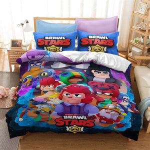 Brawl Stars #18 Duvet Cover Quilt Cover Pillowcase Bedding Set Bed Linen Home Bedroom Decor