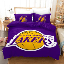 Load image into Gallery viewer, NBA Lakers Basketball #1 Duvet Cover Quilt Cover Pillowcase Bedding Set Bed Linen Home Decor