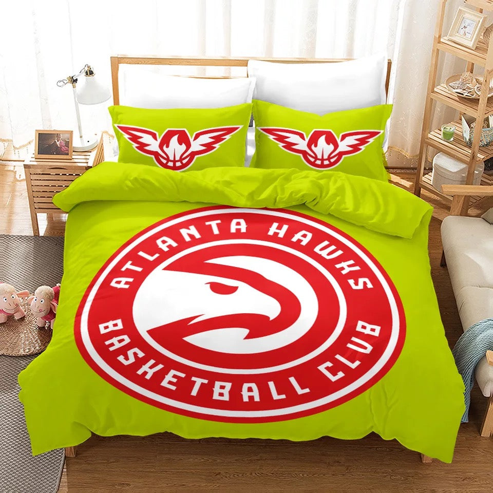 Basketball Atlanta Hawks Basketball #3 Duvet Cover Quilt Cover Pillowcase Bedding Set Bed Linen Home Decor