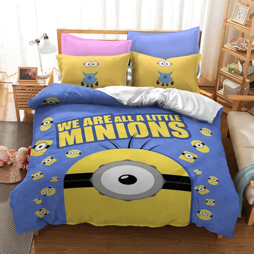 Despicable Me Minions #16 Duvet Cover Quilt Cover Pillowcase Bedding Set Bed Linen Home Decor