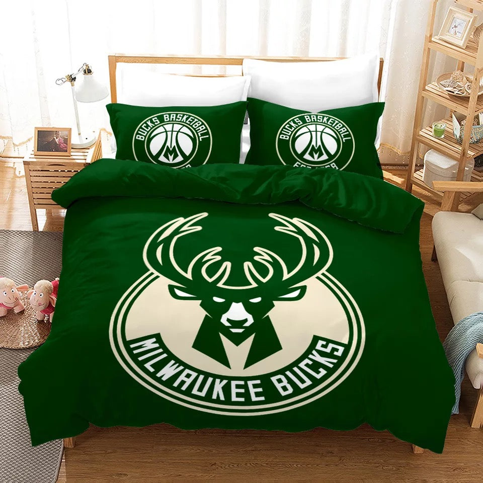 Basketball Milwaukee Bucks Basketball #4 Duvet Cover Quilt Cover Pillowcase Bedding Set Bed Linen Home Decor