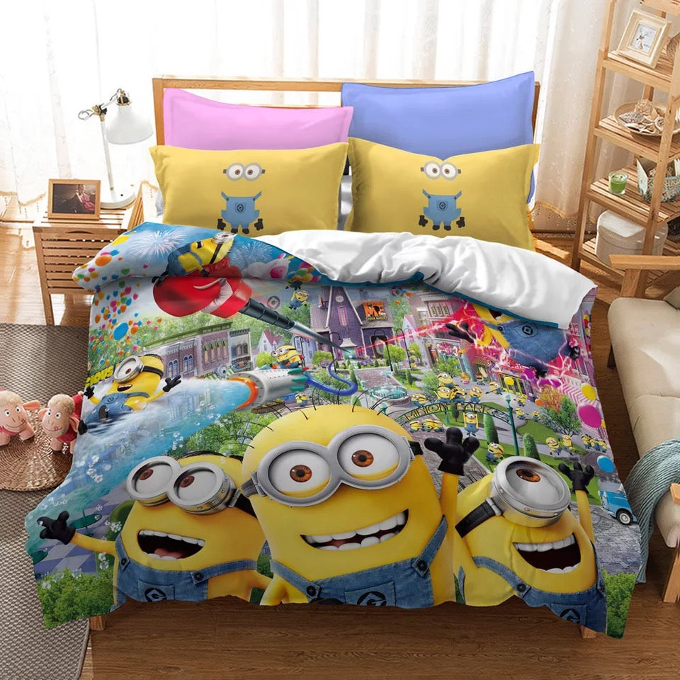 Despicable Me Minions #17 Duvet Cover Quilt Cover Pillowcase Bedding Set Bed Linen Home Decor