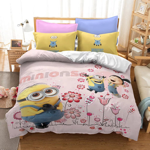 Despicable Me Minions #18 Duvet Cover Quilt Cover Pillowcase Bedding Set Bed Linen Home Decor
