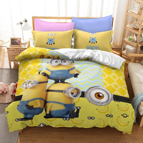 Despicable Me Minions #20 Duvet Cover Quilt Cover Pillowcase Bedding Set Bed Linen Home Decor