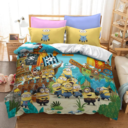 Despicable Me Minions #21 Duvet Cover Quilt Cover Pillowcase Bedding Set Bed Linen Home Decor