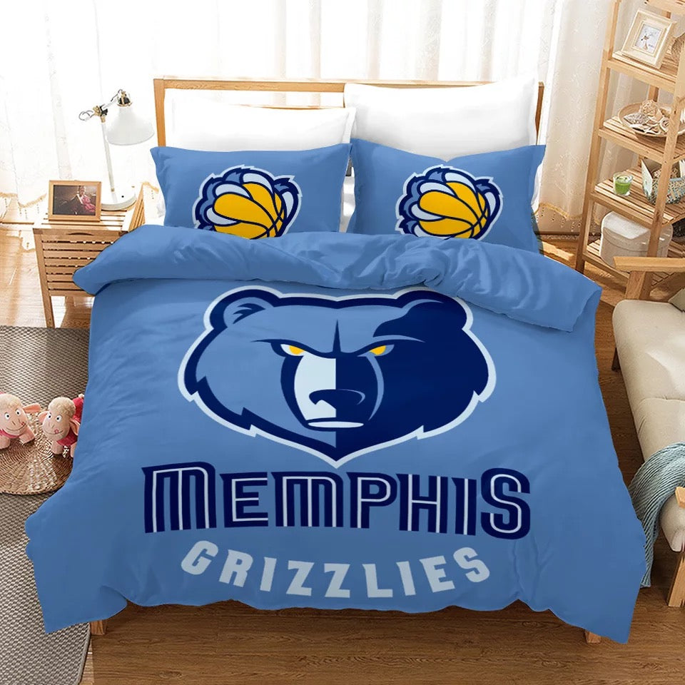 NBA Memphis Grizzlies Basketball #8 Duvet Cover Quilt Cover Pillowcase Bedding Set Bed Linen Home Decor