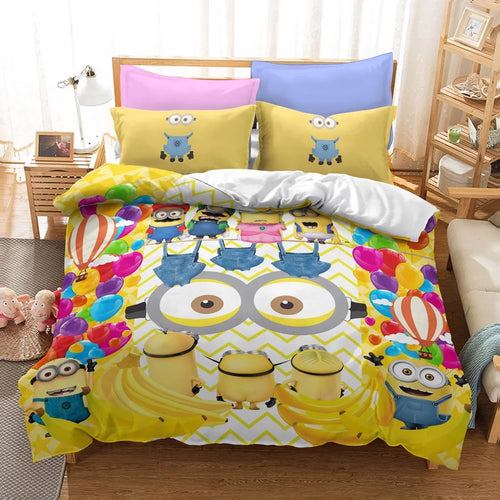 Despicable Me Minions #23 Duvet Cover Quilt Cover Pillowcase Bedding Set Bed Linen Home Decor