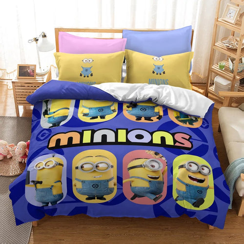 Despicable Me Minions #24 Duvet Cover Quilt Cover Pillowcase Bedding Set Bed Linen Home Decor