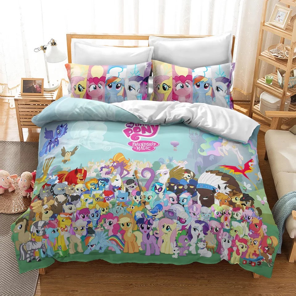 My Little Pony #30 Duvet Cover Quilt Cover Pillowcase Bedding Set Bed Linen Home Decor