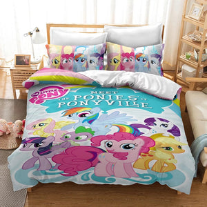 My Little Pony #31 Duvet Cover Quilt Cover Pillowcase Bedding Set Bed Linen Home Decor