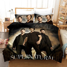 Load image into Gallery viewer, Supernatural Dean Sam Winchester #1 Duvet Cover Quilt Cover Pillowcase Bedding Set Bed Linen Home Decor