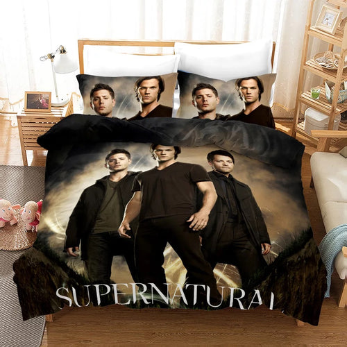Supernatural Dean Sam Winchester #1 Duvet Cover Quilt Cover Pillowcase Bedding Set Bed Linen Home Decor